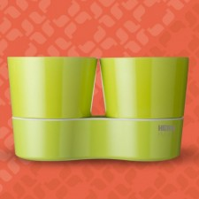 Herb Hydro pot twin lime