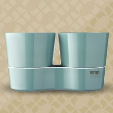 Herb Hydro pot twin Nordic Green